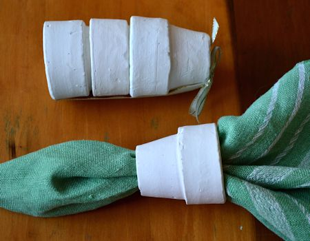 Garden Pot Napkin Rings
